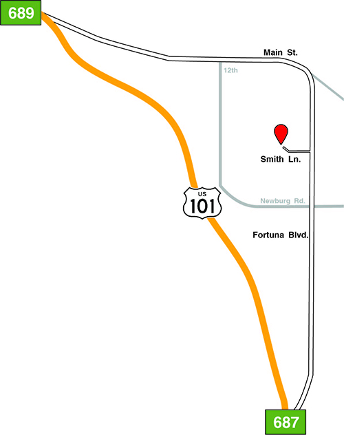 Map to forbusco image